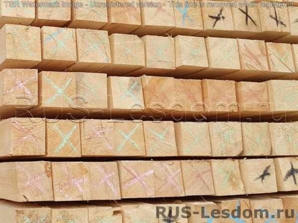 Брус обрезной 100х100х6000 Цена в Москве