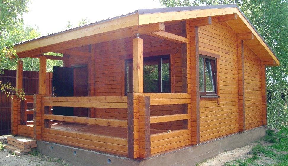 строения из деревянного бруса